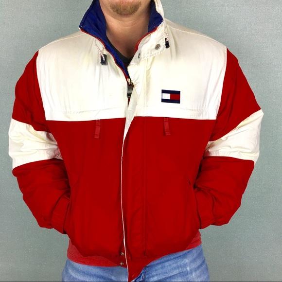 a392fb59 Tommy Hilfiger Jackets & Coats   Vintage Color Block Puffer Coat ...
